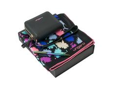 Подарочный набор: платок шелковый, кошелек дамский, ручка шариковая, разноцветный фото