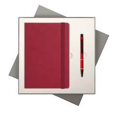 Набор подарочный Portobello BtoBook Summer time: ежедневник недатированный А5, ручка шариковая, красный фото