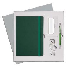 Набор подарочный Portobello BtoBook Summer time: ежедневник недатированный А5, ручка шариковая, внешний аккумулятор 2000 мАч, зеленый фото