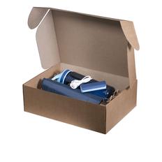 Набор подарочный Portobello: зонт, спортивная бутылка, внешний аккумулятор 2000 мАч, синий фото