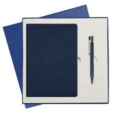 Подарочный набор Portobello Sky: Ежедневник недатированный А5, Ручка шариковая, синий фото