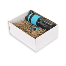 Подарочный набор Portobello: смарт-браслет Only, спортивная бутылка Corsa, чёрно-голубой фото
