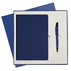Подарочный набор Portobello Spark: ежедневник недатированный А5, ручка, синий фото