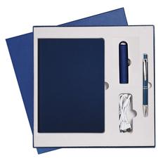 Подарочный набор Portobello Star: ежедневник недатированный А5, ручка, Power Bank, классический синий фото