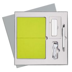 Подарочный набор Portobello Summer time: Ежедневник недатированный, Ручка, Power Bank, зелёный фото