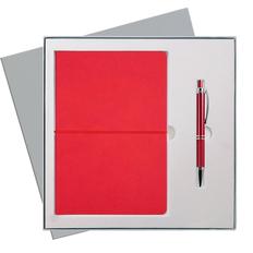 Набор подарочный Portobello Summer Time: ежедневник недатированный А5, ручка шариковая, красный фото