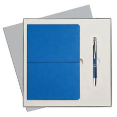 Набор подарочный Portobello Summer time: ежедневник недатированный А5, ручка, синий / серый фото