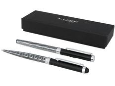 Набор ручек Luxe Empire: ручка шариковая металлическая, ручка роллер, черные чернила, черный фото