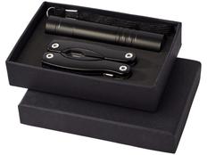 Подарочный набор Scout: фонарик и мультиинструмент, черный фото