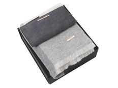 Набор подарочный Ungaro: шарф шерстяной, кошелек дамский, серый фото