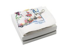 Набор подарочный Cacharel: шелковый платок, брелок, белый фото