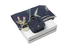 Набор подарочный Cacharel: шелковый платок, брелок, тёмно-синий фото