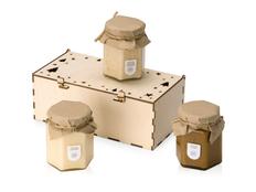 Набор подарочный из крем-меда Trio Creme, 3 вкуса, крафт фото