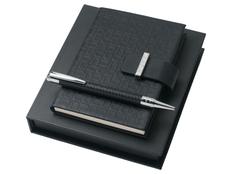 Подарочный набор Uuuu Homme: ручка шариковая, блокнот А6, чёрный фото
