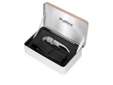 Набор винный подарочный ClickCut Set: штопор, футляр и металлическая коробка, серебристый / черный фото