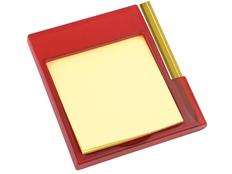 Подставка для заметок магнитная, красная фото