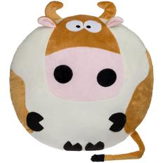 Подушка George Moonie, белая / коричневая фото