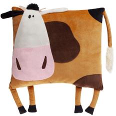 Подушка Корова Зорька, коричневая фото