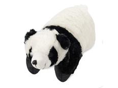 Подушка под голову Панда. С помощью липучки превращается в мягкую игрушку, черный, белый фото