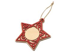 Подвеска деревянная «Звезда», красная фото