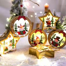 Подвеска новогодняя с подсветкой фото