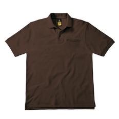 Футболка поло мужская B&C Energy Pro, коричневая фото
