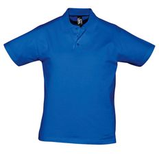 Поло мужское Sol's Prescott Men 170, синее фото