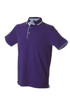 Поло мужское JRC Rodi Man 180, фиолетовое / голубое фото