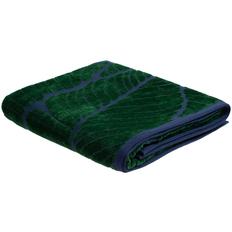 Полотенце In Leaf, большое, синее с зеленым фото