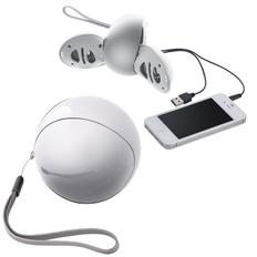 Колонки проводные для смартфона, 2шт, белые фото