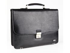 Портфель кожаный Diplomat, черный фото
