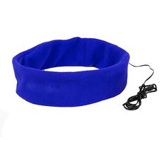 Повязка на голову с проводными наушниками Markiz, синяя фото