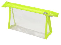 Прозрачная пластиковая косметичка Lucy, салатовая фото