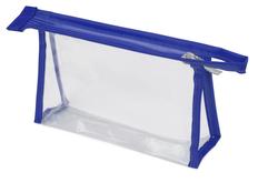 Прозрачная пластиковая косметичка Lucy, синяя фото