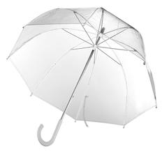 Зонт трость механический Clear, прозрачный фото