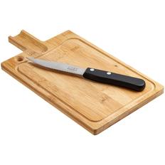 Разделочная доска и нож для стейка Steak фото