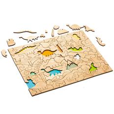 Развивающий эко-пазл Wood Games, динозавры фото