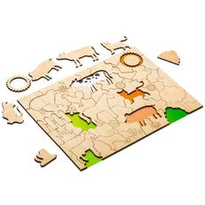 Развивающий эко-пазл Wood Games, ферма фото