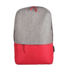 Рюкзак BEAM, серый с красным фото