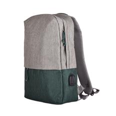 Рюкзак BEAM, серый с зеленым фото
