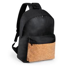 Рюкзак c карманом из пробки Lorkan, черный/ коричневый фото