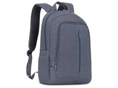 Рюкзак для ноутбука 15.6'' RIVACASE с панелью-органайзером, серый фото