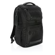 """Рюкзак для ноутбука 15.6"""" Swiss Peak Voyager из RPET с USB & RFID, чёрный фото"""