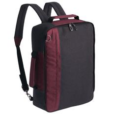 Рюкзак для ноутбука 2 в 1 Indivo twoFold, темно-серый/ бордовый фото