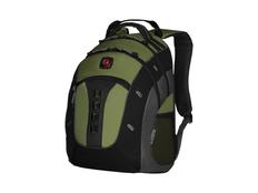 """Рюкзак Wenger Granite с отделением для ноутбука 16"""", черный/ зеленый фото"""