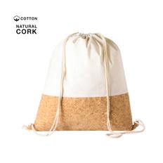 Рюкзак хлопковый Galsin, белый/ коричневый фото