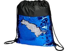 Рюкзак-мешок Mermaid с пайетками, чёрный/синий фото