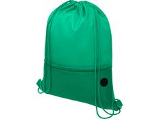 Рюкзак-мешок с карманом на молнии Oriole, зеленый фото