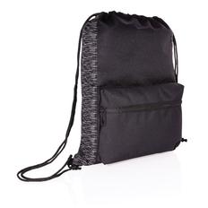 Рюкзак на шнурке XD Collection светоотражающий из RPET AWARE™, черный / серый фото