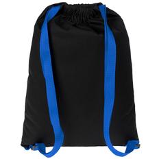 Рюкзак-мешок Nock на лямках, черный / синий фото